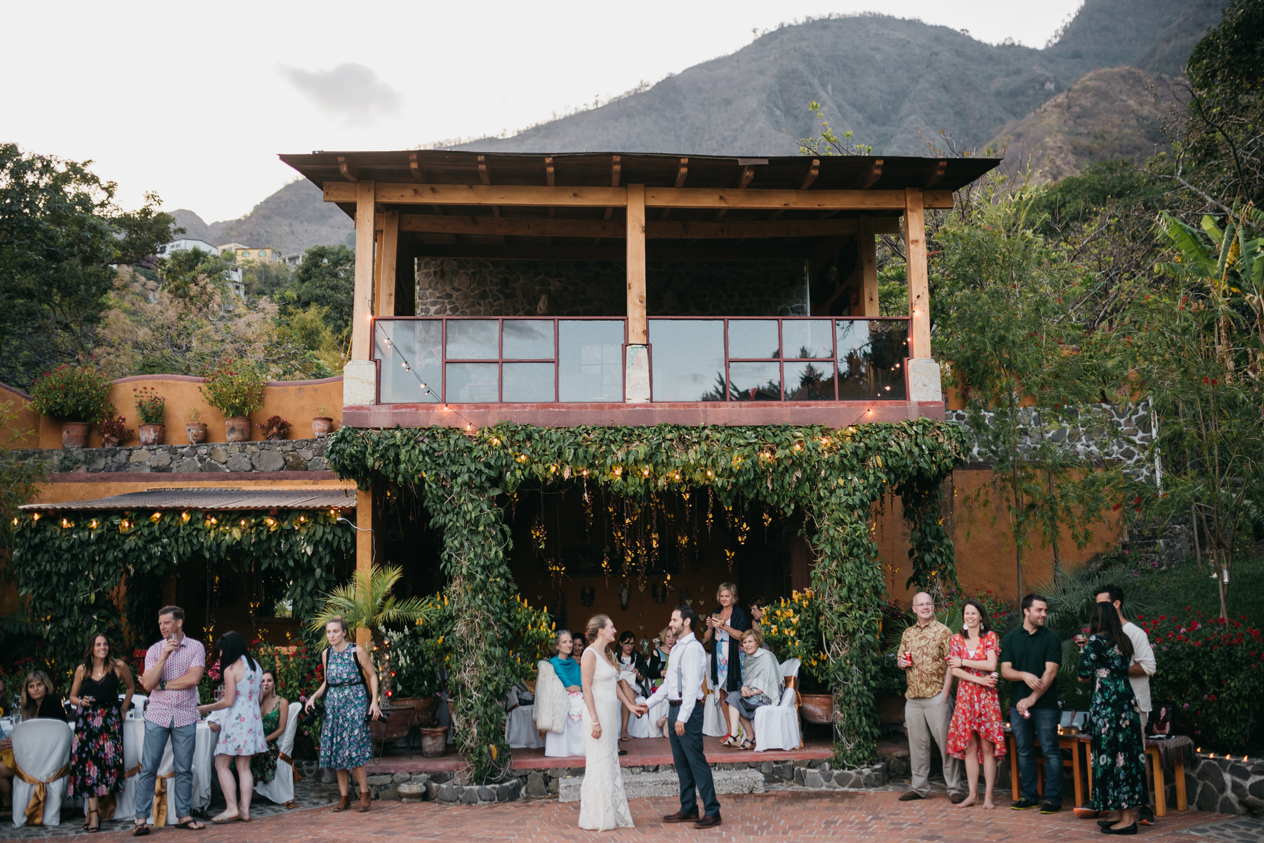 Intimate Wedding Reception at a Rental Home in Guatemala