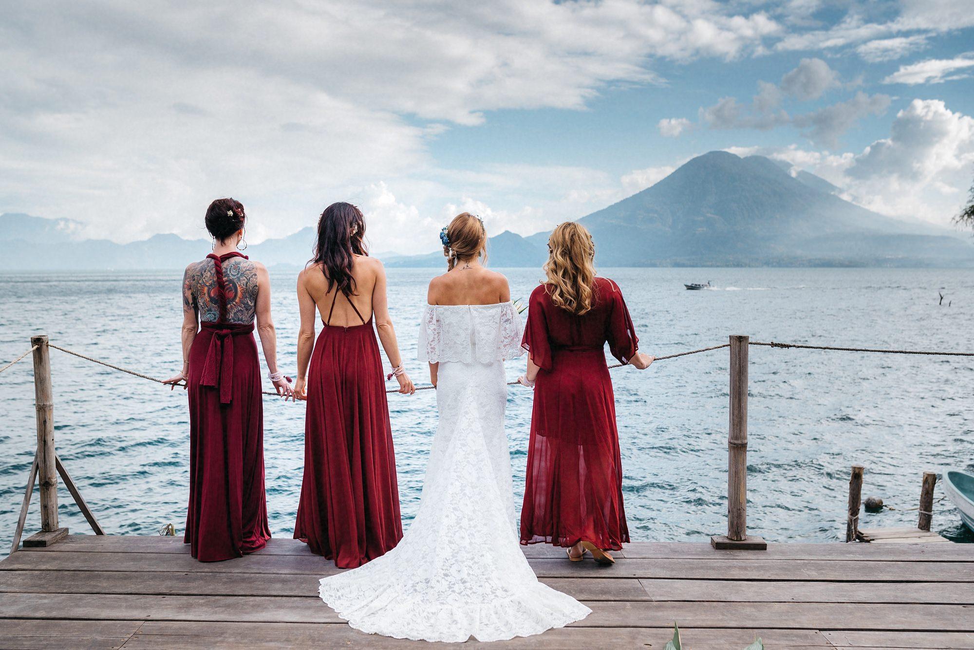 bridesmaids lake atitlan guatemala
