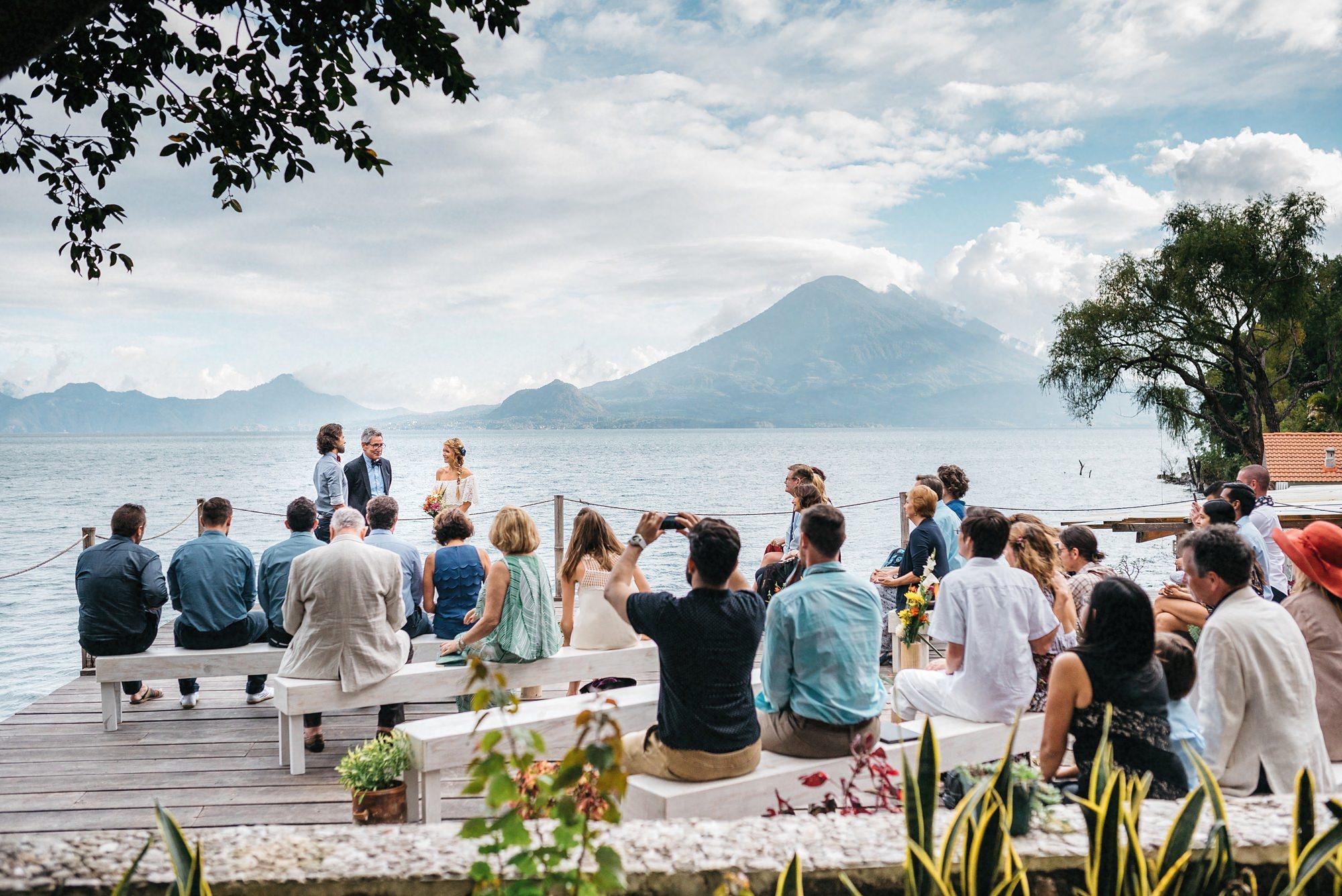 wedding ceremony lake atitlan guatemala