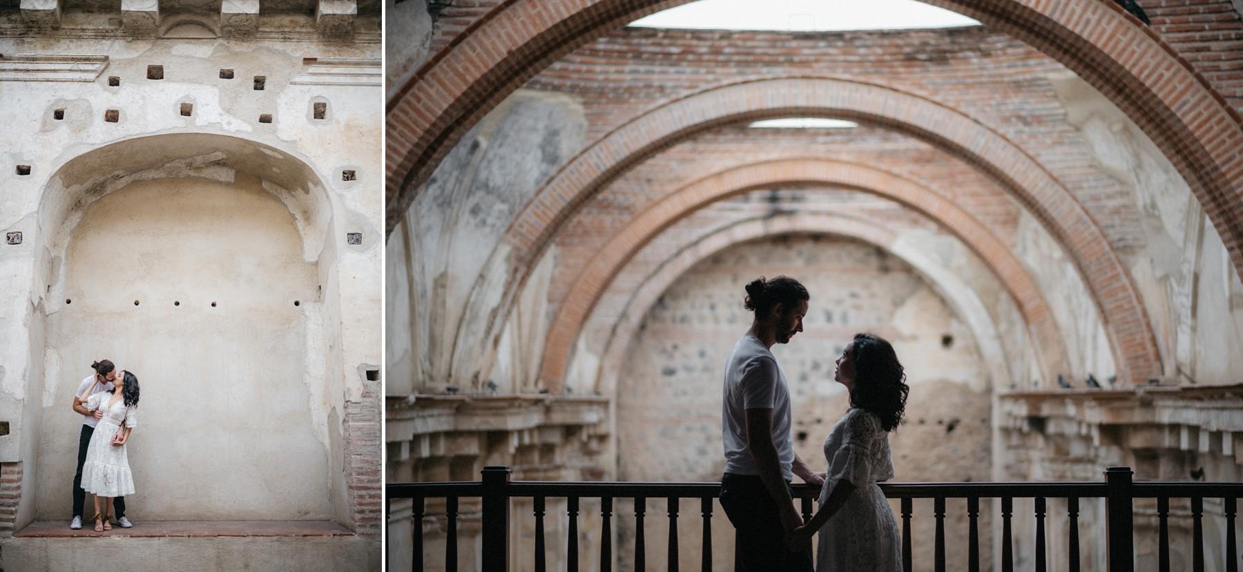 engagement photos in antigua guatemala