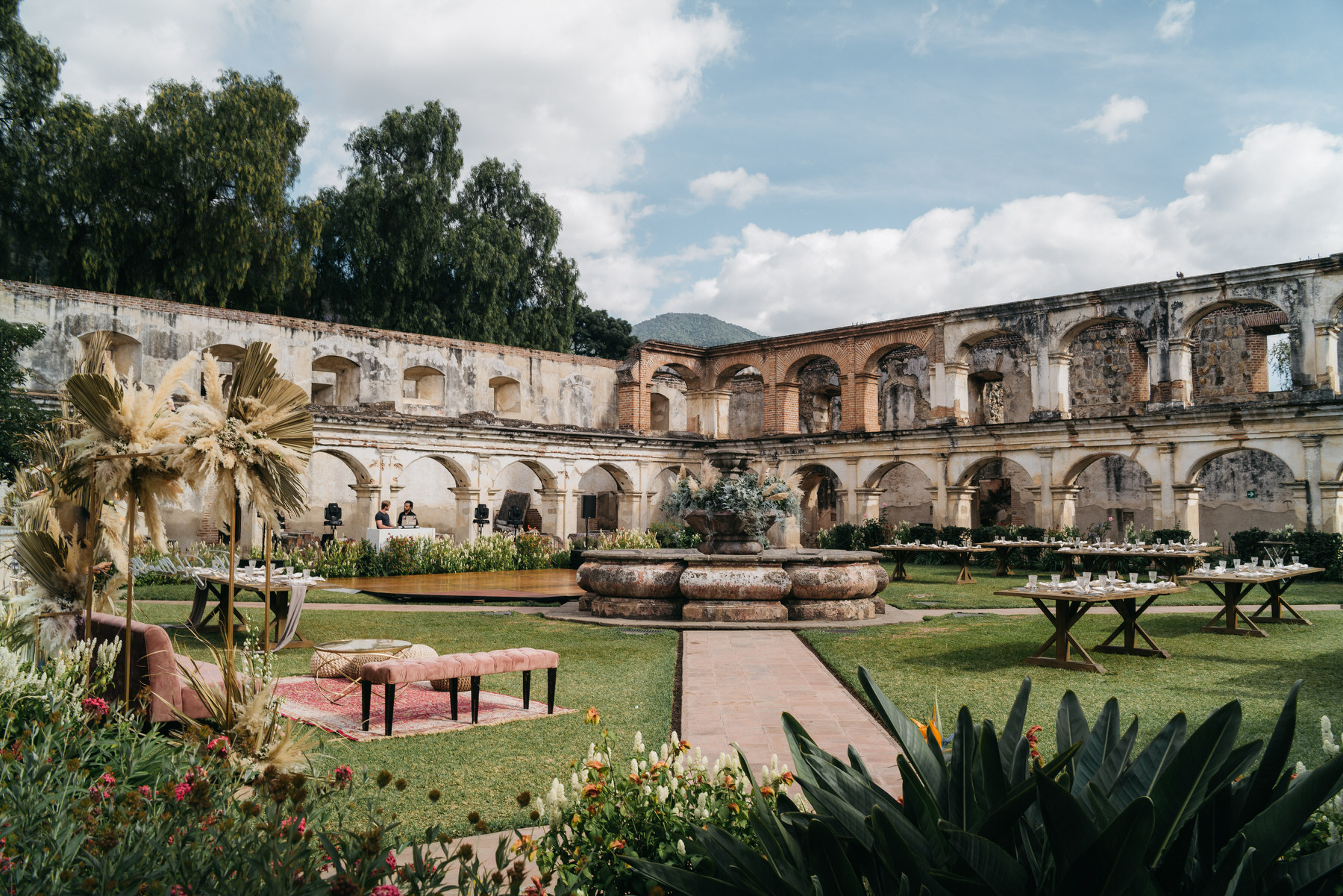 Wedding Reception at Convent of Santa Clara Antigua Guatemala