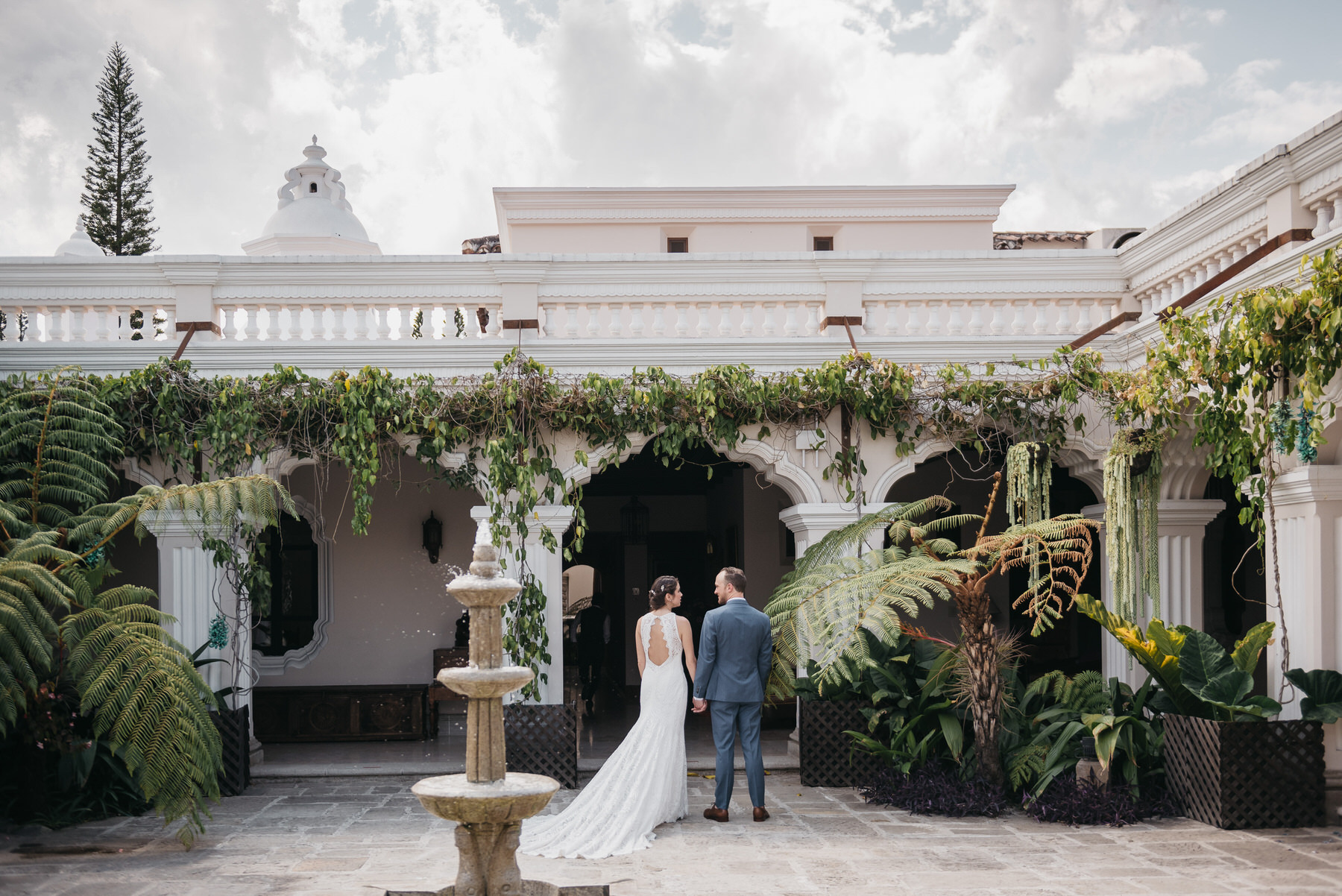 Wedding Couple at Pensativo House Hotel in Antigua Guatemala