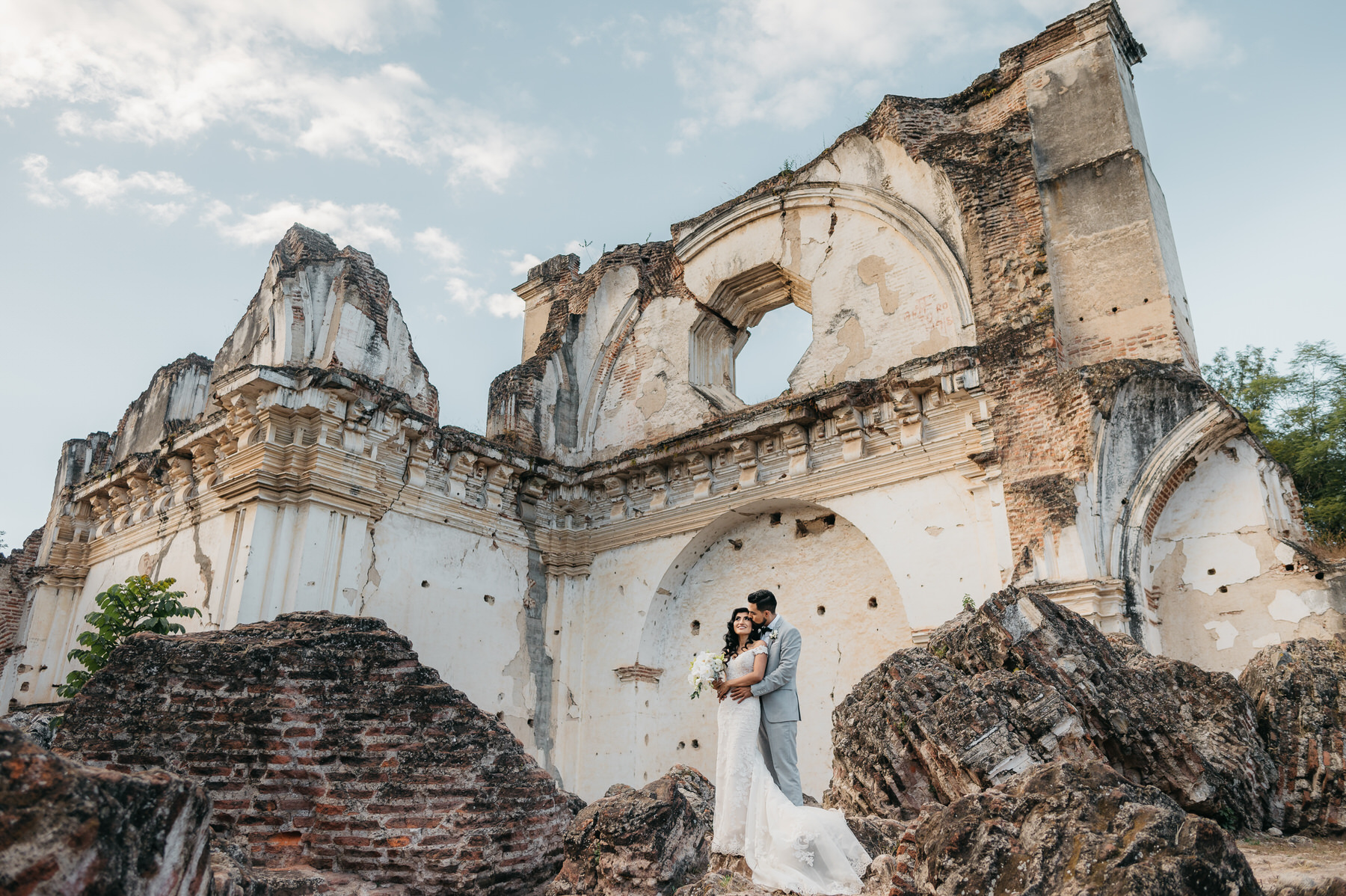 Wedding Couples at La Recoleccion in Antigua Guatemala