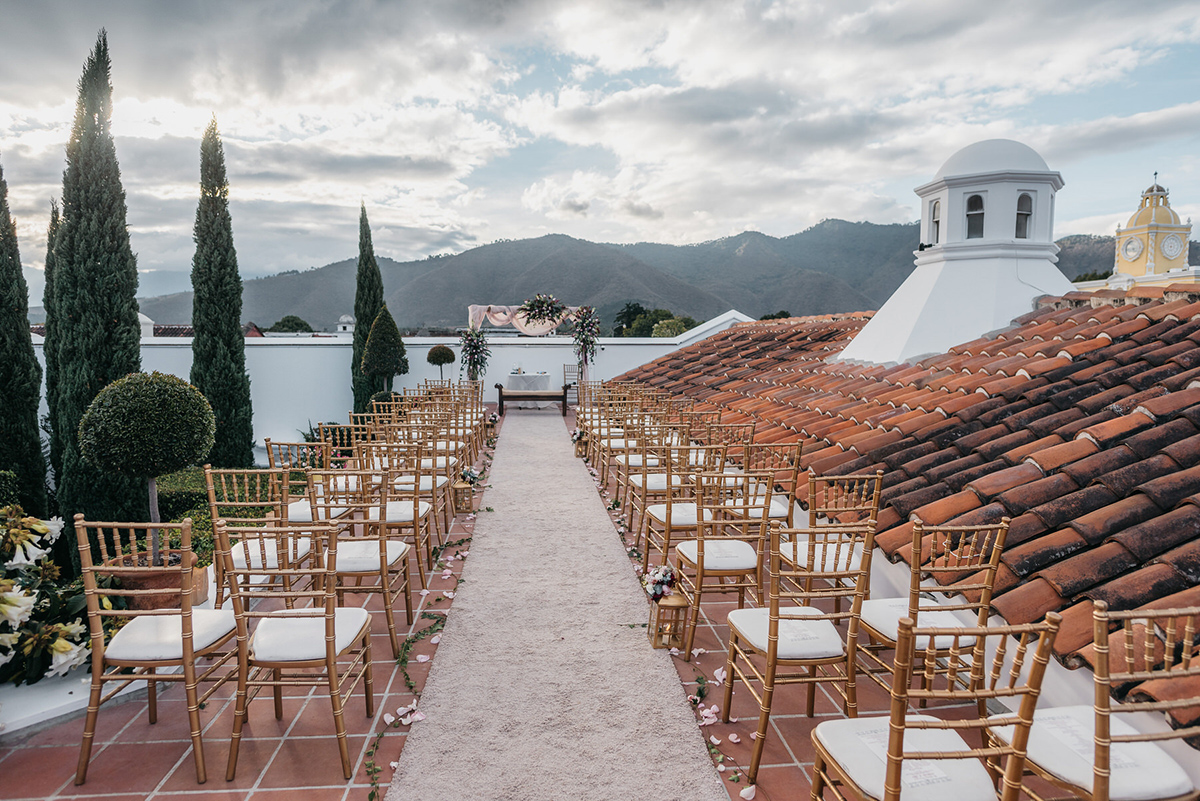 Wedding Ceremony setting in Antigua Guatemala