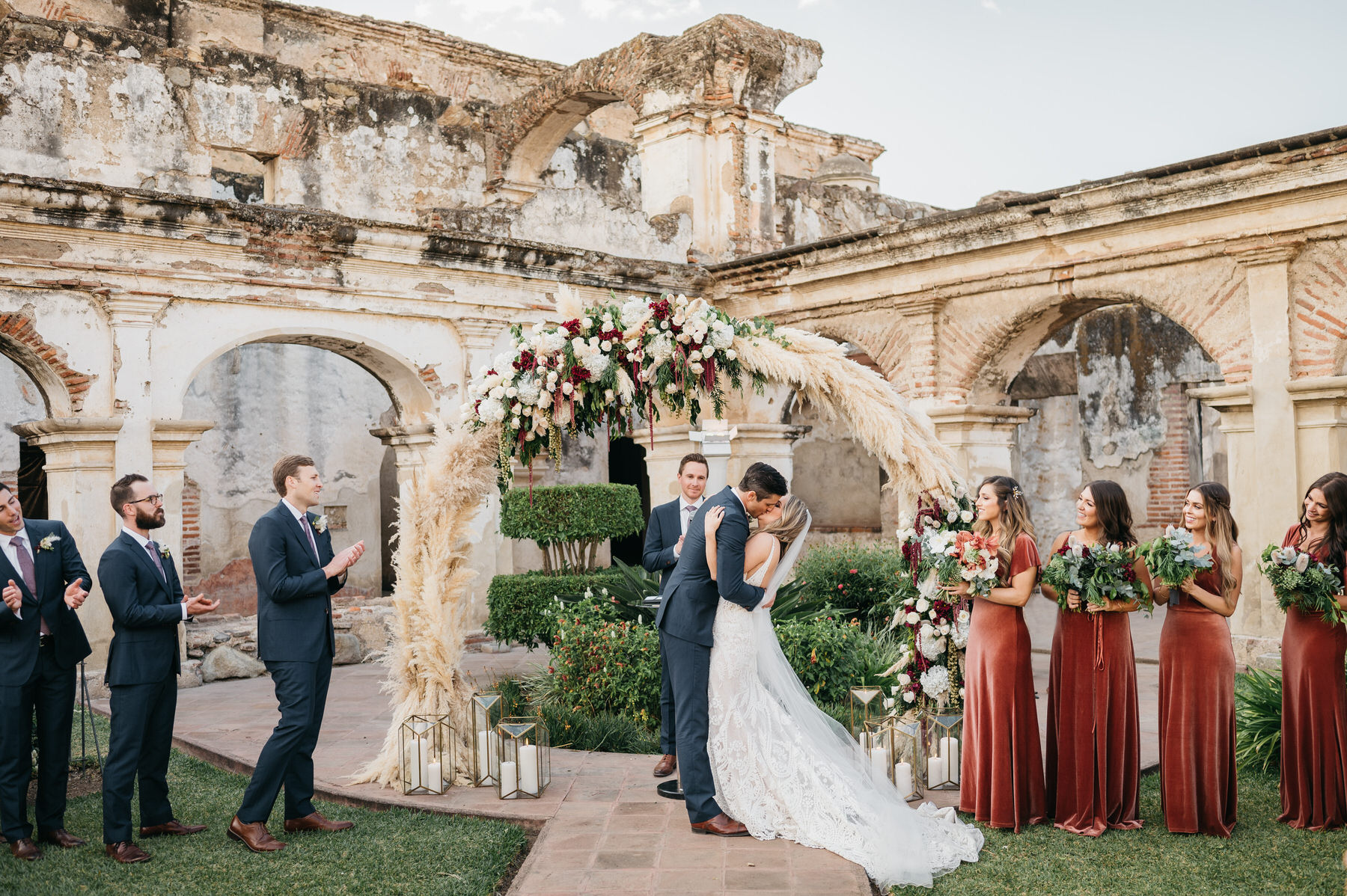 First Kiss Destination Wedding Antigua Guatemala