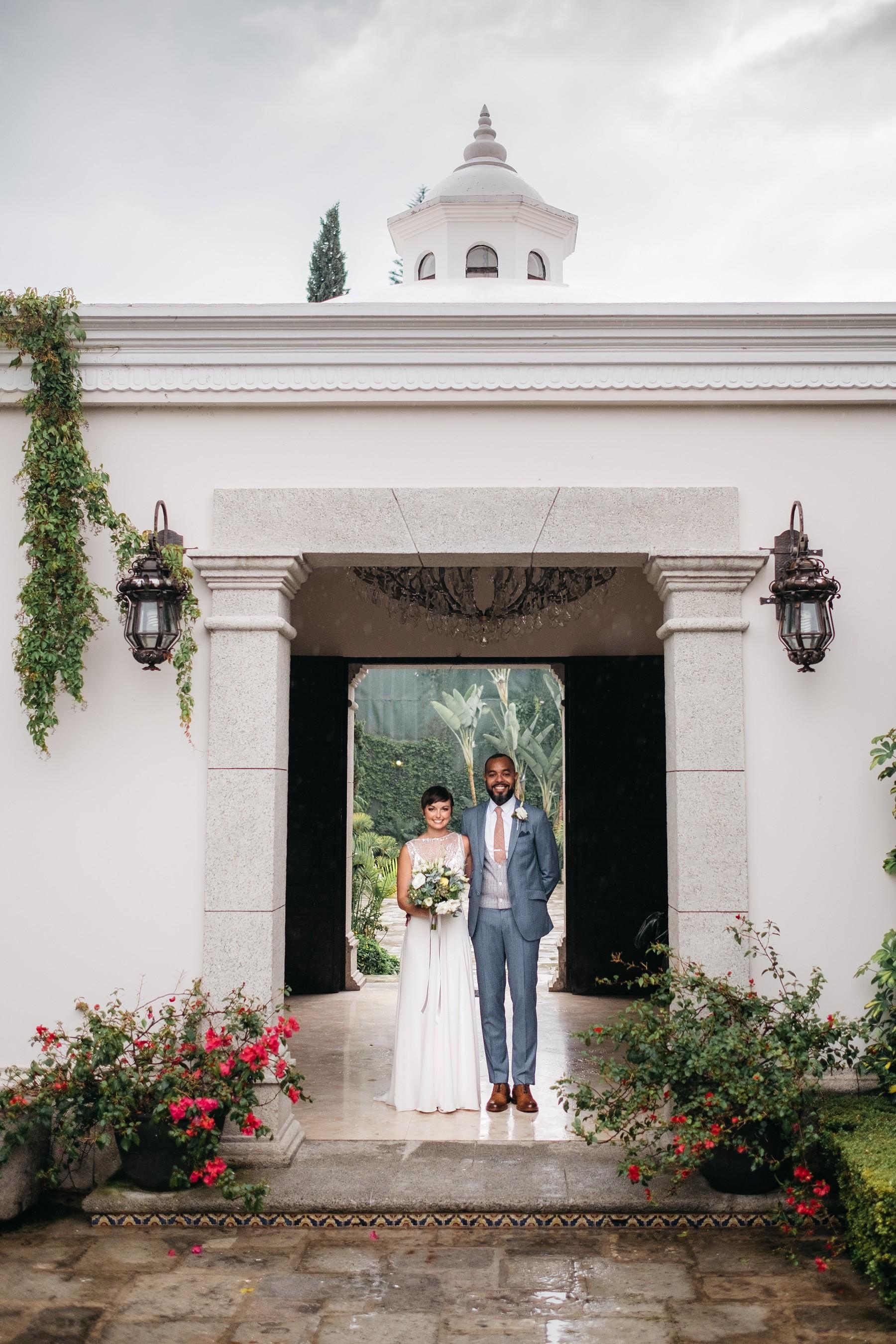 Wedding Photo at Pensativo Hotel Antigua Guatemala