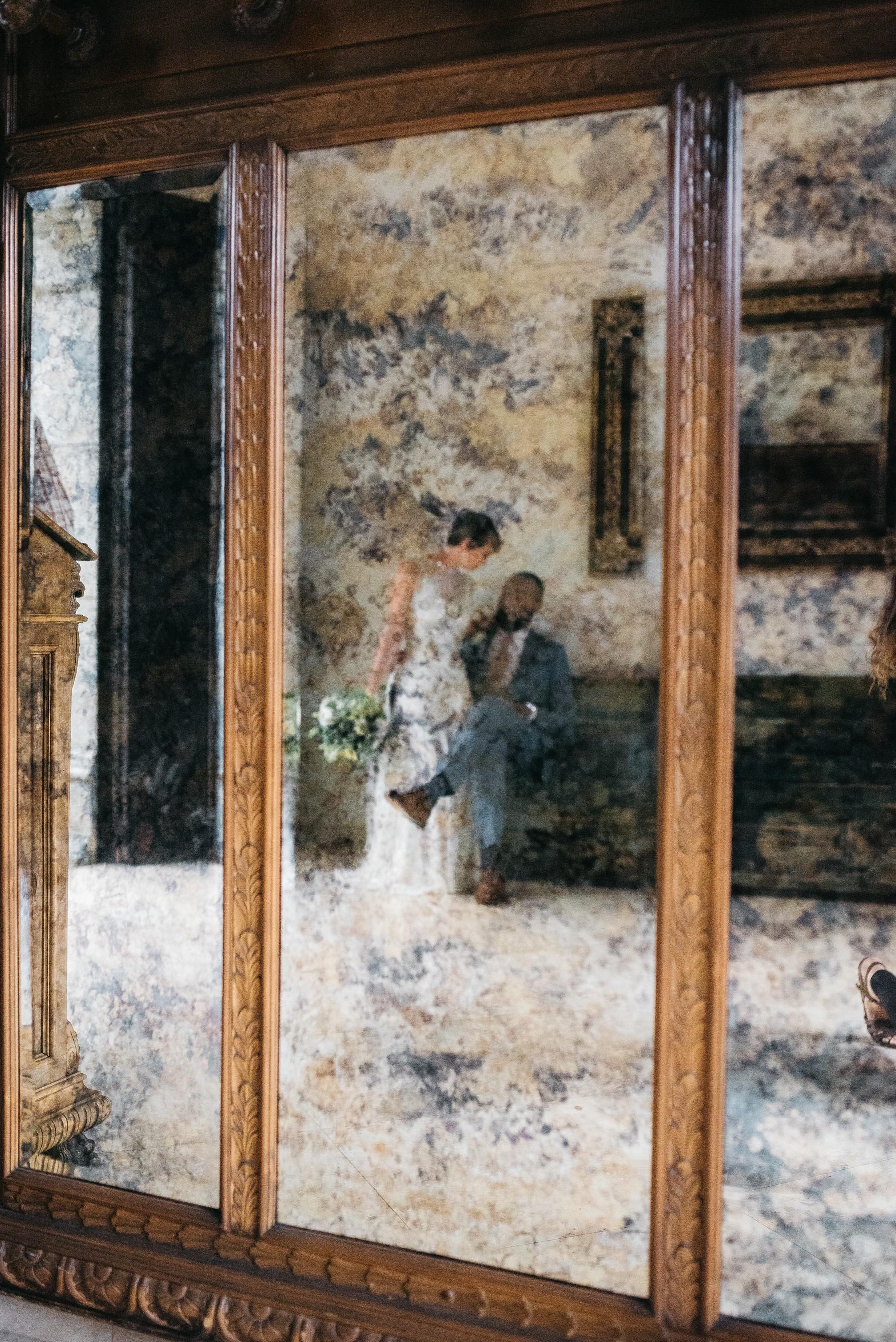 Wedding Photo Mirror Reflection